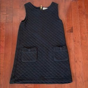 Kate Spade quilted dress black zipper in the back